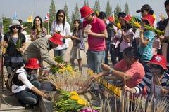 festiwalu krathong loy woda Obrazy Royalty Free