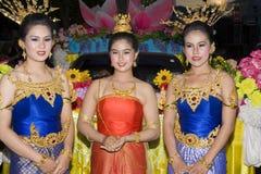 festiwalu krathong loy woda Fotografia Royalty Free