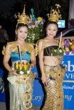 festiwalu krathong loy woda Zdjęcie Royalty Free