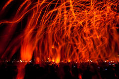 festiwalu lampionu niebo Fotografia Stock