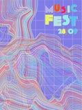 Festiwalu muzyki okładkowy tło ilustracji