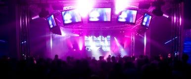 festiwalu muzyki panorama Zdjęcia Stock