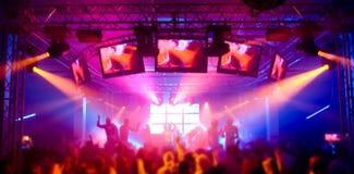 festiwalu muzyki panorama Zdjęcia Royalty Free