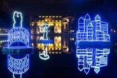 Festiwalu okrąg światło Chistye Prudy (Czyści stawy) Obraz Stock