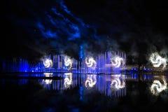 Festiwalu okrąg światło Wioślarski kanał Obrazy Royalty Free