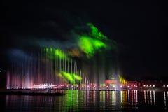 Festiwalu okrąg światło Wioślarski kanał Zdjęcia Stock