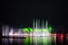 Festiwalu okrąg światło Wioślarski kanał Zdjęcia Royalty Free