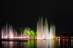 Festiwalu okrąg światło Wioślarski kanał Zdjęcie Stock