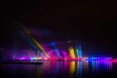 Festiwalu okrąg światło Wioślarski kanał Obrazy Stock