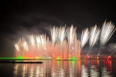 Festiwalu okrąg światło Wioślarski kanał Fotografia Stock