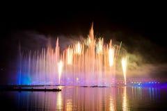 Festiwalu okrąg światło Wioślarski kanał Fotografia Royalty Free