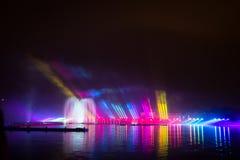 Festiwalu okrąg światło Wioślarski kanał Obraz Stock