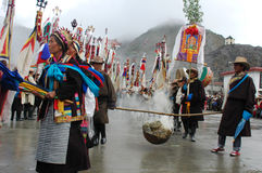 festiwalu ongkor Tibet obrazy royalty free