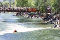 festiwalu Reno rzeka Zdjęcia Stock