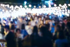 Festiwalu wydarzenia przyjęcie z ludźmi Zamazanego tła Obrazy Royalty Free