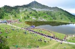 festiwalu wysokogórski róg Obrazy Royalty Free