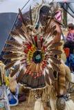 Festkleid des amerikanischen Ureinwohners Stockbild