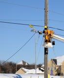 Festlegung-Stromleitungen Lizenzfreie Stockfotografie