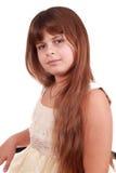 Festlich gekleidetes nettes kleines Mädchen Lizenzfreies Stockbild