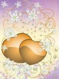 Festliche Blumenpostkarte Lizenzfreies Stockfoto