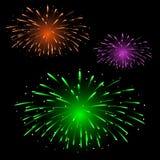 Festliche bunte Feuerwerke Stockbilder