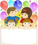 Festliche Familie Lizenzfreies Stockfoto