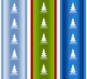 Festliche Feiertags-Weihnachtsbaum-Ränder lizenzfreie abbildung