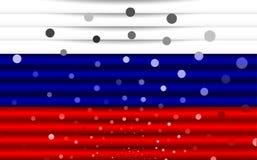 Festliche Flagge von Russland Stockfotografie