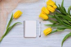 Festliche Frühlingszusammensetzung Flache Lage Lizenzfreies Stockbild