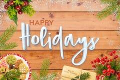 Festliche frohe Feiertage saisonalkarte lizenzfreies stockfoto