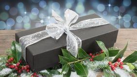 Festliche Geschenkbox Lizenzfreie Stockfotos
