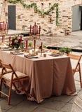 Festliche Hochzeitstafelkerzenblumen Stockfoto