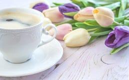 Festliche Kaffeepause Stockbild