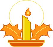 Festliche Kerze lizenzfreie abbildung