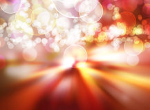 Festliche Leuchten nachts Lizenzfreies Stockfoto