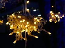 Festliche Lichtdekoration Stockfoto