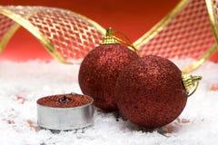 Festliche Neujahr Kerze lizenzfreie stockfotografie