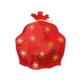 Festliche schöne, große neues Jahr ` s Tasche, mit Geschenken und Überraschung stock abbildung