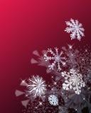 Festliche Schneeflocken lizenzfreie abbildung