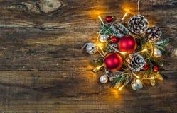 Festliche Weihnachtsanordnung Lizenzfreie Stockfotografie