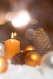 Festliche Weihnachtsdekoration in der Orange Lizenzfreie Stockbilder