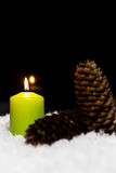 Festliche Weihnachtsdekoration im Grün Lizenzfreies Stockfoto