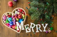 Festliche Weihnachtsverzierungen Stockbilder