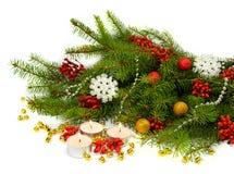 Festliche Weihnachtszusammensetzung in einer rustikalen Art Lizenzfreies Stockfoto