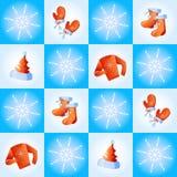 Festliche Winterkleidung Stockbild