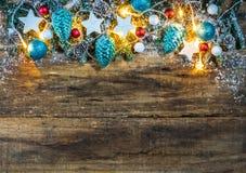 Festliche winterliche Weihnachtsdekoration Lizenzfreie Stockfotos