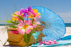 Festliche Zeit auf Strand Lizenzfreies Stockbild