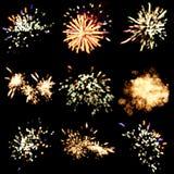 Festlicher Feuerwerkshintergrund Lizenzfreie Stockfotos