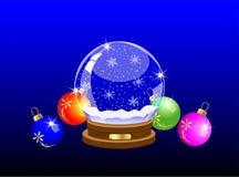Festlicher Glasball und varicoloured Marmore vektor abbildung