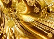Festlicher goldener Auszug Stockbilder